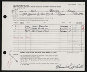 Entry card for Mandle, Bernard S. for the 1963 May Show.