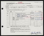 Entry card for Miller, John Paul for the 1963 May Show.