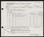 Entry card for Morrison, Ruth K. for the 1963 May Show.