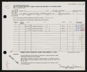 Entry card for Nelson, Mary Jane for the 1963 May Show.