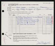 Entry card for Parshall, Harriet Jane, and Chasek, Denis F. for the 1963 May Show.