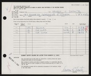 Entry card for Shewitz, Newson H. for the 1963 May Show.