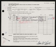 Entry card for Short, Ian C. for the 1963 May Show.