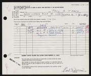 Entry card for Travis, Paul Bough for the 1963 May Show.