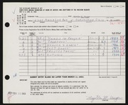 Entry card for Unger, Myrtle M. for the 1963 May Show.