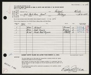 Entry card for Wick, Robert for the 1963 May Show.