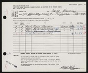 Entry card for Woehrman, Ralph for the 1963 May Show.