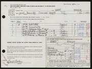Entry card for Baker, Bart Michael for the 1964 May Show.