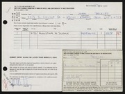 Entry card for Beckley, John Clinton for the 1964 May Show.
