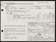 Entry card for Berg, Clarence P. for the 1964 May Show.