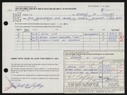 Entry card for Culley, Robert W. for the 1964 May Show.