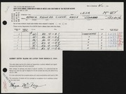 Entry card for McVey, Leza for the 1964 May Show.