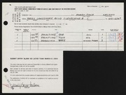 Entry card for Nelson, Mary Jane for the 1964 May Show.