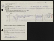 Entry card for Willard, Edward W. for the 1964 May Show.