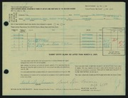 Entry card for Laurence, Sarah Du for the 1965 May Show.