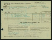 Entry card for Mayer, Henry M. for the 1965 May Show