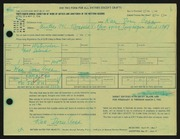 Entry card for Cass, Katherine Dorn for the 1966 May Show.