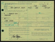 Entry card for Clague, John for the 1966 May Show.