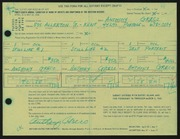 Entry card for Greco, Anthony Joseph for the 1966 May Show.