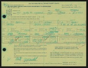 Entry card for Greenwold, Mark A. for the 1966 May Show.
