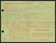 Entry card for Janis, Ellen for the 1966 May Show.