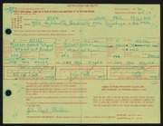 Entry card for Miller, John Paul for the 1966 May Show.