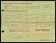 Entry card for Palovich, George W. for the 1966 May Show.