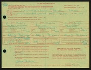 Entry card for Parkinson, Alberta, and Parkinson, David B., Jr. for the 1966 May Show.
