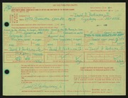 Entry card for Parkinson, David B., Jr. for the 1966 May Show.
