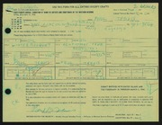 Entry card for Travis, Paul Bough for the 1966 May Show.