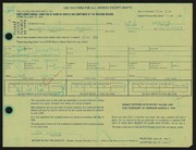 Entry card for Wilson, La for the 1966 May Show.