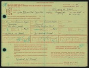 Entry card for Wood, Mildred H. for the 1966 May Show.