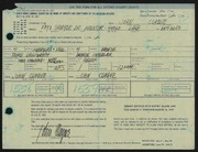 Entry card for Clague, John for the 1967 May Show.