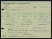 Entry card for Cowden, Virginia for the 1967 May Show.