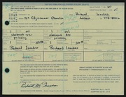 Entry card for Isackes, Richard for the 1967 May Show.