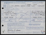 Entry card for Attie, Diana Carol for the 1968 May Show.