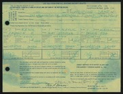 Entry card for Damen, Christine for the 1968 May Show.