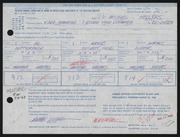 Entry card for Kellers, Michael for the 1968 May Show.