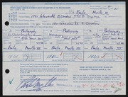Entry card for Murillo, Emilio, III for the 1968 May Show.