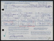 Entry card for Pekarcik, Phillip for the 1968 May Show.