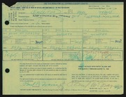 Entry card for Travis, Paul Bough for the 1968 May Show.