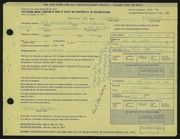 Entry card for Baldwin, Gordon  for the 1971 May Show.