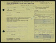 Entry card for Grauer, William C. for the 1971 May Show.