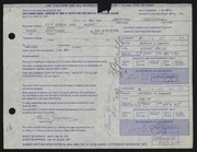 Entry card for Grossman, Morton for the 1971 May Show.