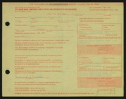 Entry card for Miller, Frederick Anson for the 1971 May Show.