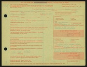 Entry card for Miller, John Paul for the 1971 May Show.
