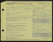 Entry card for Mylott, J. Robert for the 1971 May Show.