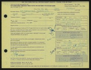 Entry card for Pearson, John for the 1971 May Show.