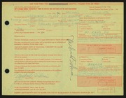 Entry card for Schrier, Michael for the 1971 May Show.