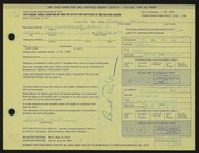 Entry card for Taylor, Ronald D. for the 1971 May Show.